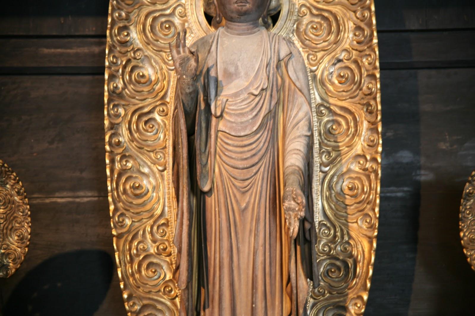 木造地蔵菩薩立像の手元